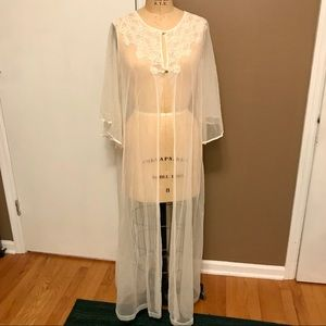 Stunning floorlength Komar lingerie robe.